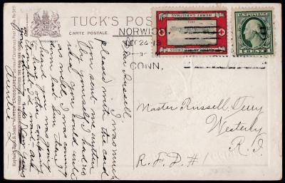 1913 Ty 2 Christmas Seal Tied On