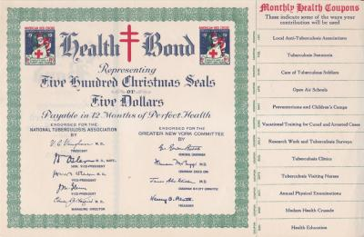 1919 TB Christmas Seal Bond