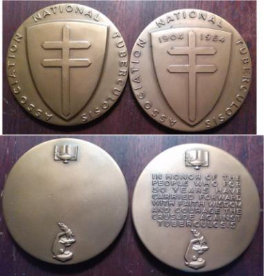 National Tuberculosis Association Medallic Art Medals