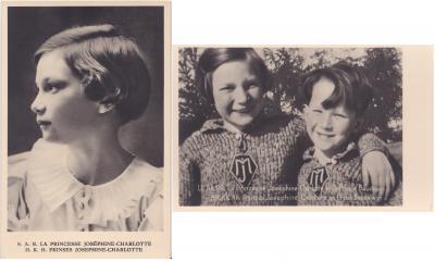 1939 Belgian Royalty TB Postcards