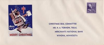 1944 Christmas Seal Campaign Envelope