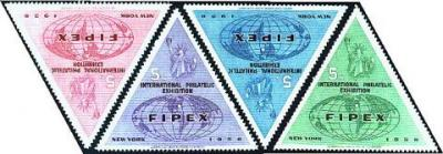Philatelic Events, 1956 FIPEX set of 4
