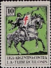 Argentina TB League, 1935 Herald with trumpet on horse