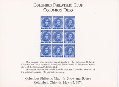 Reprint, 1974 Historical Society Confederate