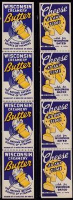 Advertising, Wisconsin Dairy Poster Stamps