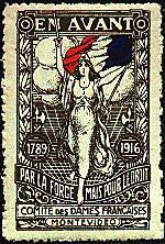 Uruguay,1916 Red Cross? Poster Stamp