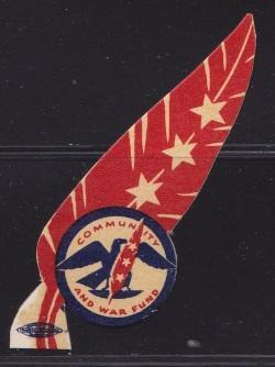 Patriotic, Red Feather Lapel Tag