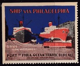 Shipping, Poster Stamp. Philadelphia