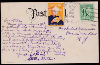 American Bible Assn, China 1944 Patriotic tied on Cover