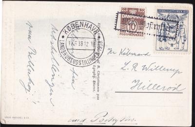 Danish 1938 Cinderella Tied On Postcard