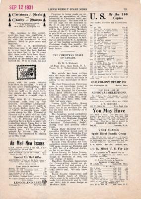 Seal News #1 1931