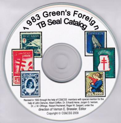 Green's Catalog of Tuberculosis Seals, Foreign TB Seals, computer CD