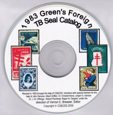 Green's Catalog of Tuberculosis Seals, Foreign TB Seals, computer CD