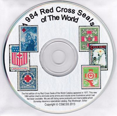 Red Cross Seals of The World, Mosbaugh's Catalog, 1984 computer CD