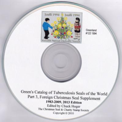 Green's Catalog of Tuberculosis Seals of the World, Foreign TB Seals, 1983-2007 supplement, computer CD