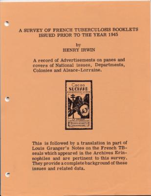 A Survey of French TB Christmas Seal Booklets