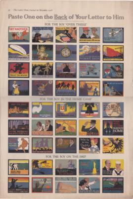1918 WW1 Ladies Home Journal Patriotic Poster Stamps