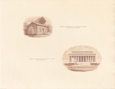 F 1959B Lincoln's Birthplace & Memorial, brown proof