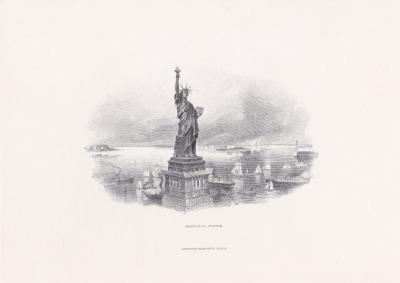1986 Garsky Statue of Liberty Engraving