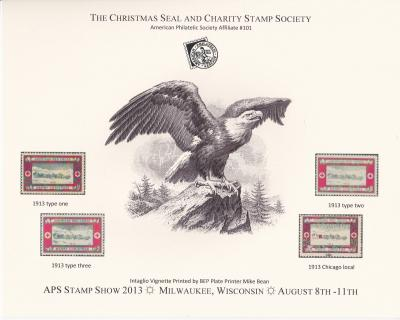 2013 APS StampShow, CS&CSS set of 3 eagle cards