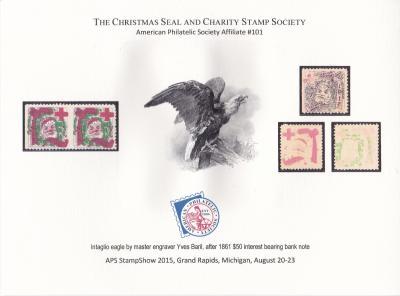 2015 APS StampShow, CS&CSS Baril Eagle Souvenir Card