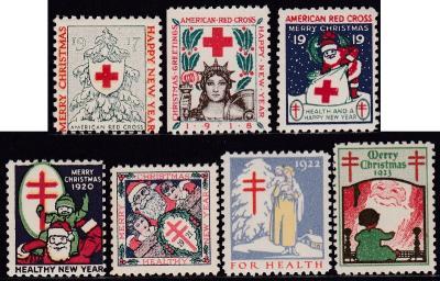 1917-23 US Christmas Seal Set