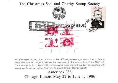 1986 CS&CSS Ameripex souvenir card