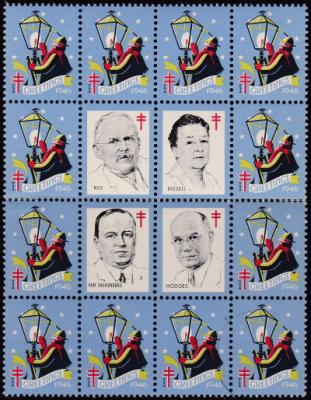 1946 US Christmas Seal portrait block