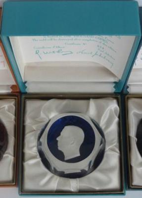 H. M. Gustaf, King of Sweden, sulphide, Crystal d'Albret, with original box and certificate