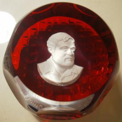1969 Ernest Hemingway, sulphide, Crystal d'Albret