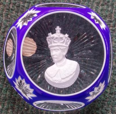 1970 Prince Charles Investiture, Crystal d'Albret, double overlay