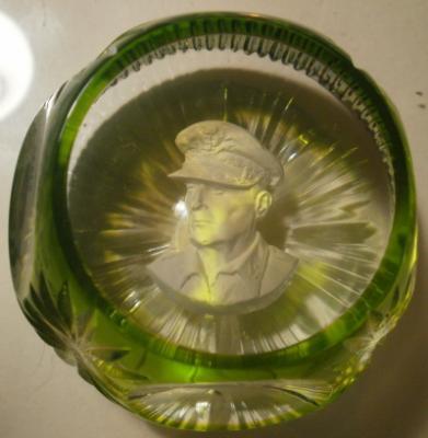 1968 General MacArthur, sulphide, Crystal d'Albret, light green flash overlay