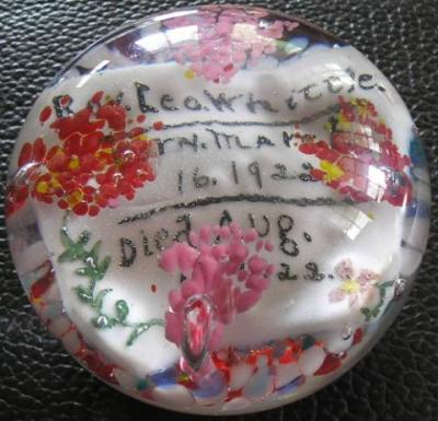 """Antique American weight, 3.25"""" diameter, a few old scratches on the top, flat ground base, otherwise very fine condition"""