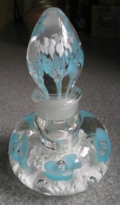 Joe Rice perfume bottle, signed