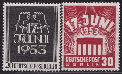 Berlin 9N 99-100 never hinged