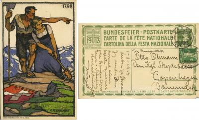 1913 Swiss TB Postcard