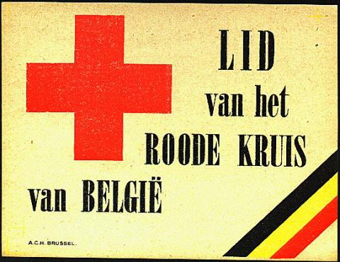 Belgium Red Cross Window Label