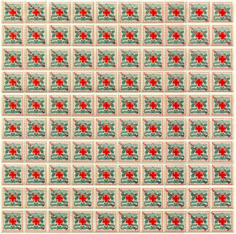 1909 NH Ovpt Christmas Seal Sheet