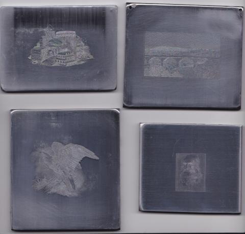 Set of Four Mint condition Intaglio prints//vignettes Engravings 4