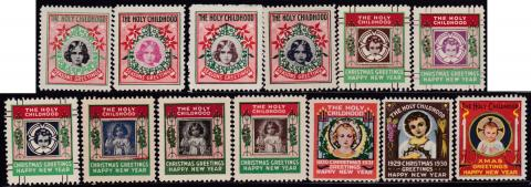Holy Childhood Christmas Seals 1928-40