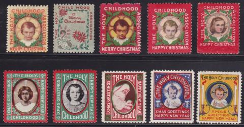Holy Childhood Christmas Seals 1918-27