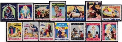 Holy Childhood Christmas Seals 1941-54