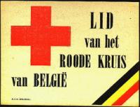 Belgium Red Cross Window Label