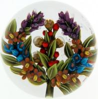 Clinton Smith paperweight, 2014, Floral Autumn Wreath