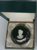 1968 General MacArthur, sulphide, Crystal d'Albret, with original box