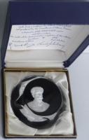 1969 Albert Schweitzer, sulphide, Crystal d'Albret, with original box and certificate
