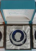 H. M. Gustaf, King of Sweden, sulphide, Crystal d'Albret, with original box and certificate