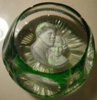 1967 JFK & Jackie, sulphide, Crystal d'Albret, flash overlay