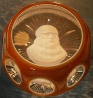 1968 Leonardo Da Vinci, sulphide, Crystal d'Albret, double overlay