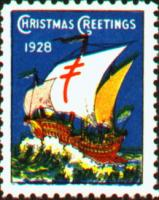 1928 US Christmas Seal